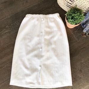 2/$30 Vintage off white tweed elastic waist skirt